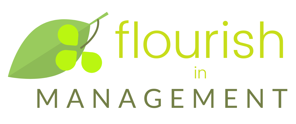Flourish in Management branding